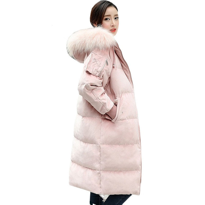 Automne Chaud Femmes 2018 De Col Fourrure Bas Taille Vers Top Lâche Odfvebx Velours Or Outwear Coton Hiver Femelle Le Manteau Veste Grande Hwfq5xva