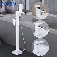 GAPPO Shower Faucets white chrome bathroom shower faucet mixer floor mounted bath shower mixer bathtub faucet basin faucet