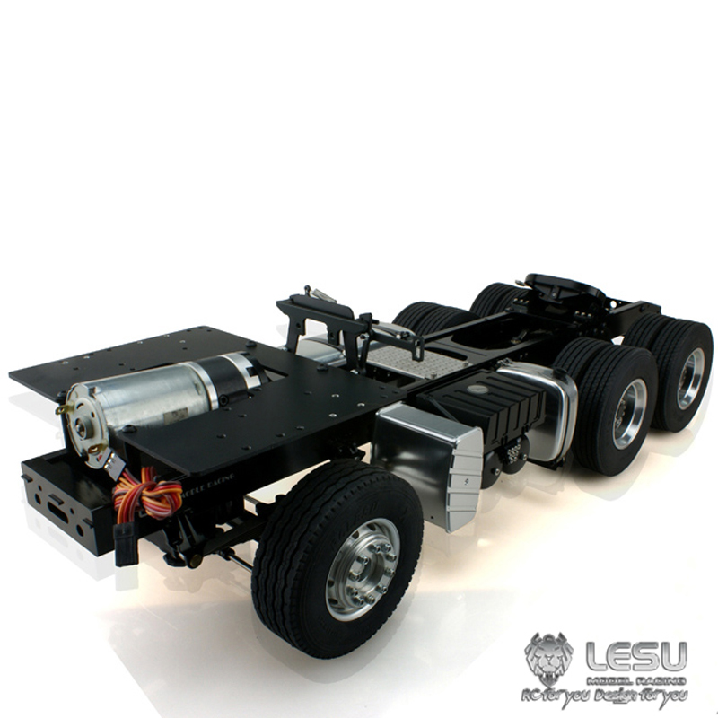 1/14 camion MAN (TGX) 6X4 châssis en métal cadre à couple élevé modèle électrique LS-20130015-A RCLESU Tamiya tracteur