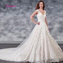 LEIYINXIANG 2019 Popular New Arrival Wedding Dress Bride Vestido De Noiva Sereia Robe Sexy Ball Gown Appliques Backless
