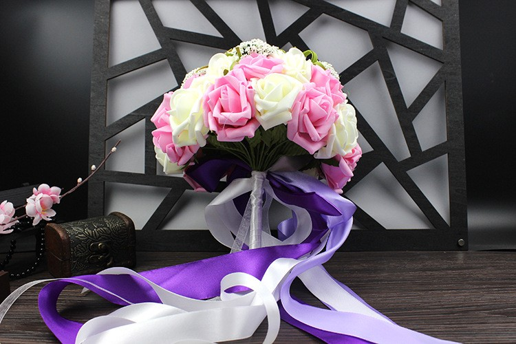 Wedding Bouquet de mariage Bridal Bouquet Wedding Bouquet Bridesmaid Artificial flower Boeket buques de noivas Bruidsboeket (15)