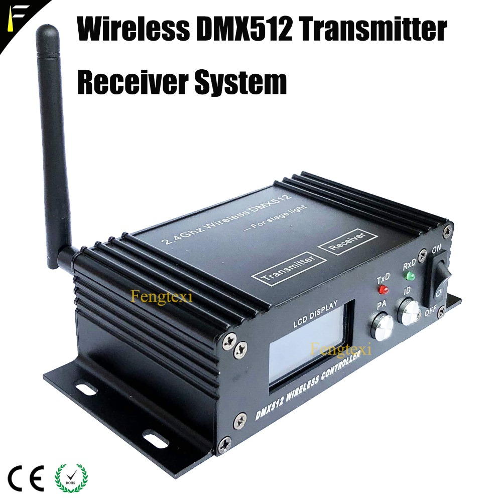 DMX Transceiver 2.4 GHz Wireless Transmitter Receiver System Display Device Stage Lighting Wireless dmx512 Console Repeater 8pcs lot dmx512 lighting console signal relay 2 4g wireless controller dmx wireless transmitter receiver dj signal transimit