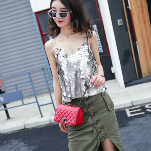 Image 5 - crossbody bags for women channels shoulder bag woman bags 2019 bag handbag fashion handbags women Diamond Lattice