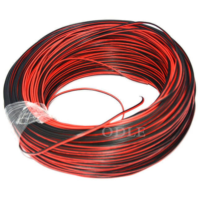 1meter 22AWG, 2 pin Red Black cable, PVC insulated wire, 22 awg wire ...