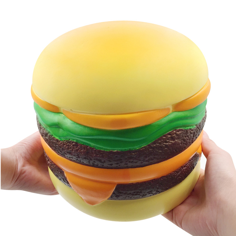 Giant Big Squishy Slow Rising Stress Relief Toys Fun Hurger Squishe Squeeze Anti-stress Hamburger Bread Bun Cake Squisy