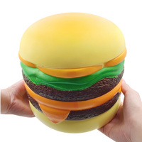 Giant Big Squishy Slow Rising Stress Relief Toys Fun Hurger Squishe Squeeze Anti stress Hamburger Bread Bun Cake Squisy