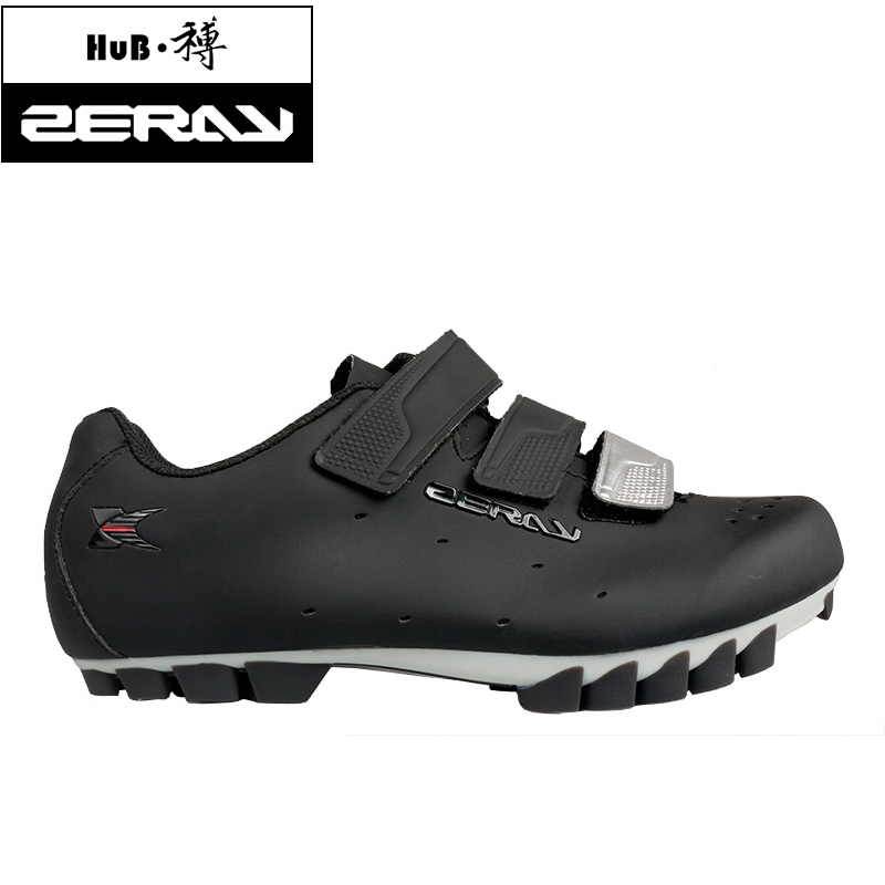 ZERAY Professional Hook Loop MTB Shoes Men Sole Breathable Bicycle Mountain Bike Shoes EY103