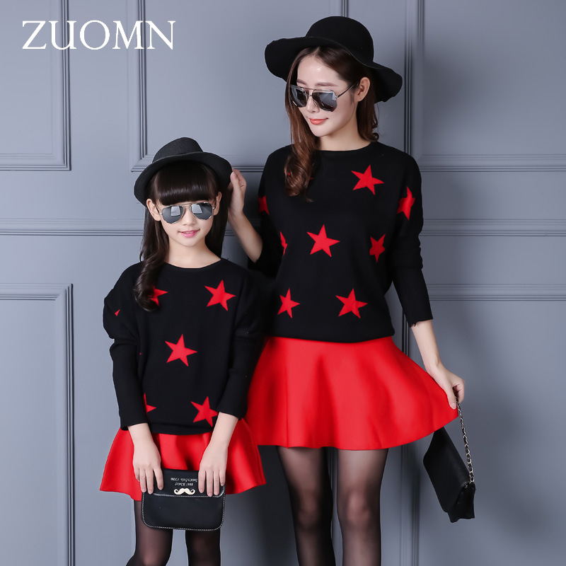 Mother Daughter Dresses Red T-shirt Family Look Matching Outfits Kid Clothes Mom And Daughter Baby Girls Dress Korea Style GH273 mother daughter dresses family matching outfits lace plaid family look matching clothes mom and daughter dress drop shipping