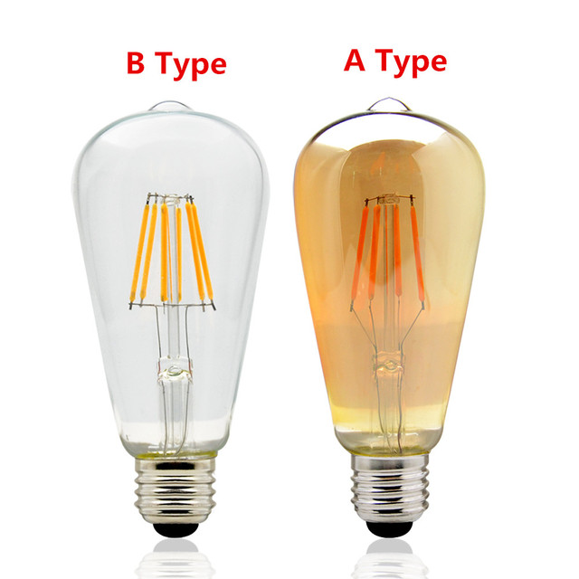 AC 220 V Vintage Edison Dimmer Licht E27 Led Lampen ST64 Warme Weiß 2200  Karat