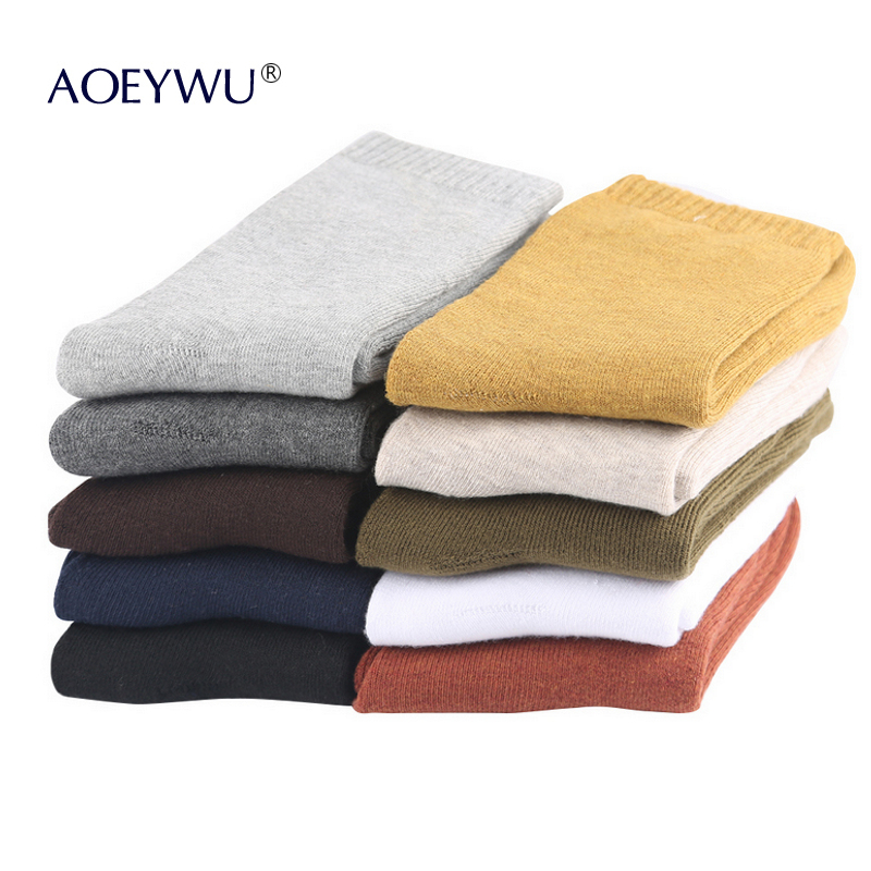 10Pairs/Lot High Quality Men Winter Thicken Terry Business Cotton Socks Male Warm Towel Socks Hot Eur40-44