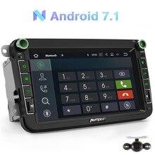 Тыква 2 Din 8 »android 7,1 Автомобильный мультимедийный плеер без DVD gps навигация для VW/Skoda/сиденье/гольф автомобиля Радио стерео аудио плеер