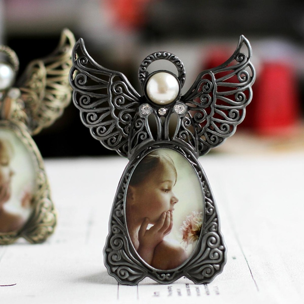 Classic picture frame baby photo frameangel wings vintage style classic picture frame baby photo frameangel wings vintage style photo frames for kidscadre photo modernestudio decor frames in frame from home garden jeuxipadfo Image collections