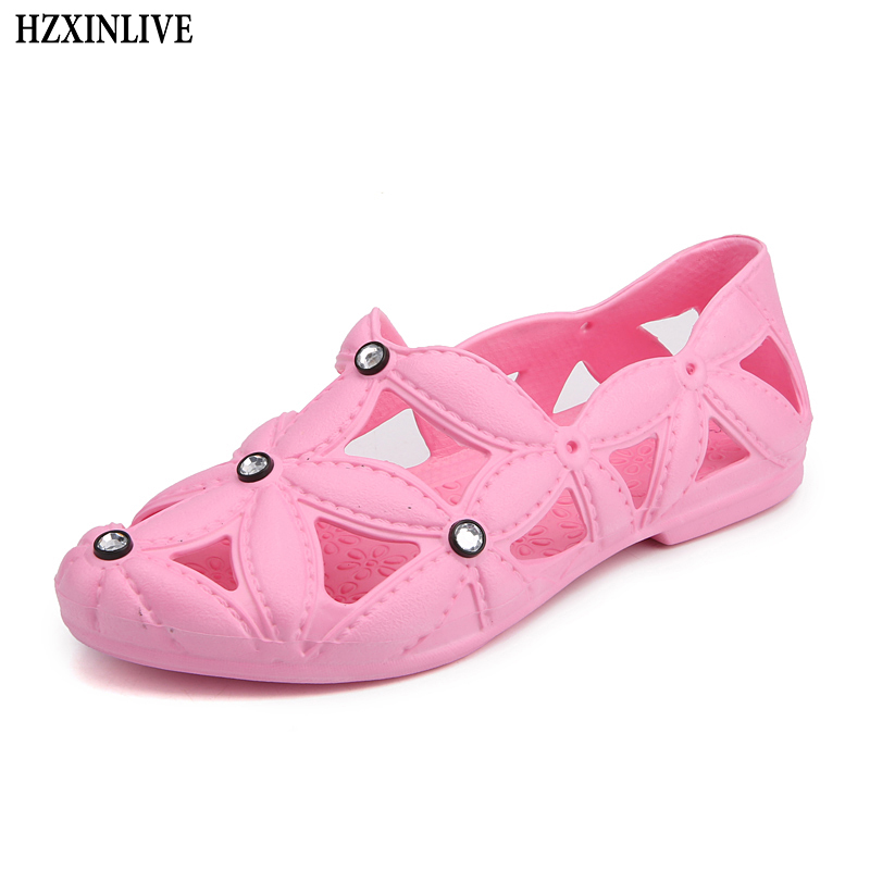 HZXINLIVE 2018 Women Beach Flat Sandals Women EVA Flat Light Shoes for Rain Day Ladies Casual Flat Female Fashion Shoes for Swim hzxinlive 2018 flat shoes women breathable flats shoes for women ladies casual platform female fashion summer sneakers footwear