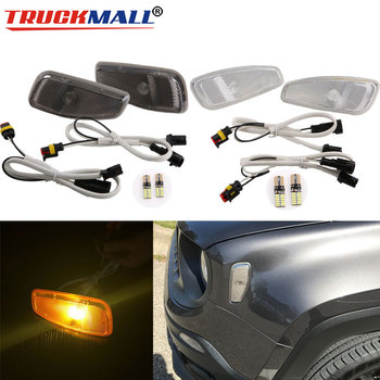 Led Side Reflection Warning Turn Signal Light Lamp Front Turn Side Signals Light For Jeep Renegade Amber T10 LED Light Bulb reflection
