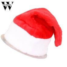 b48cae2f307 Novedad 2 unids/set gorro de Santa Claus de fiesta de Navidad rojo y blanco  para disfraz de Santa Claus sombrero de decoración d.