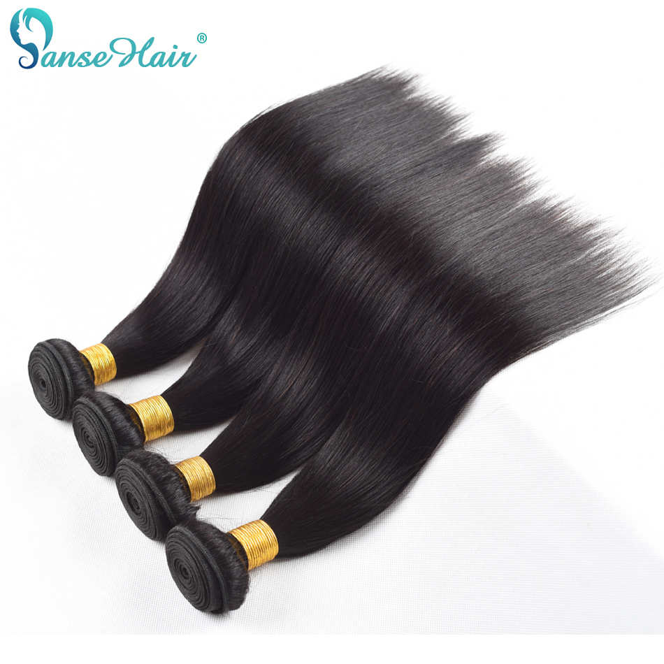 Malaysian Hair Straight Panse Hair weaving Non Remy Human Hair 4 Bundles Per Lot Customi ...