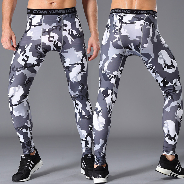 fb3d55ca90 US $12.71 |Men Compression running Pants Leggings GYM Base Layer Fitness  Trousers Tights Camouflage Bodybbuilding Training activewear-in Running  Pants ...