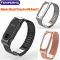 Femperna Original Mijobs Metal Strap Band For MiBand 2 Wristbands Stainless Steel Bracelet For Xiaomi Mi Band 2 Mi Band 2
