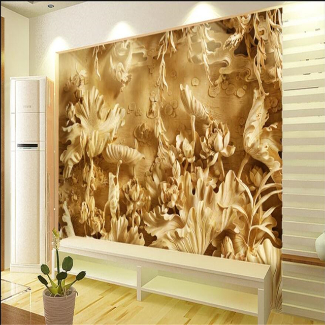 Beibehang Custom 3d Wall Paper Murals Living Room Bedroom Wood