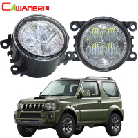 Cawanerl For 1998 2014 Suzuki Jimny FJ Closed Off Road Vehicle Car H11 LED Fog Light Angel Eye Daytime Running Light DRL Styling