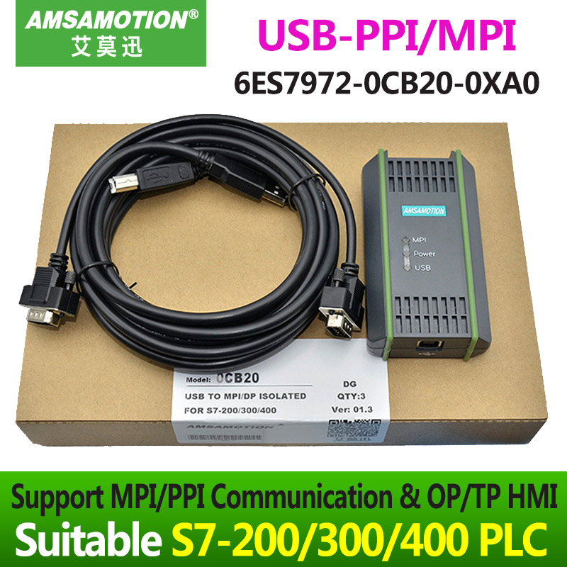 цена на S7-300 MPI Download Cable 6ES7 9720CB200XA0 PC Adapter SIMATIC 6ES7 972-0CB20-0XA0 USB-MPI/DP/PPI Network Adapter For S7 System