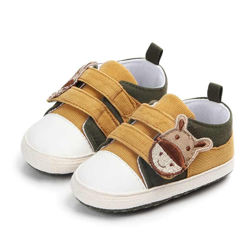 תינוקות בייבי בנים נעלי קריקטורה בד יילוד תינוק פעוט אופנה רך ראשון הליכונים עבור 0-18 חודש