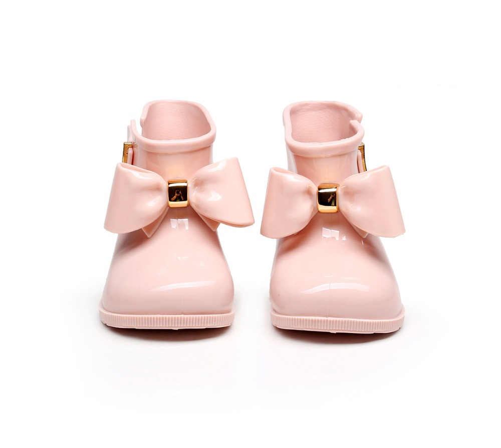 Mini Melissa 2019 New Rainboots Jelly Shoes Children Shoes Rain Boots Girl Shoes Anti-skid Bottom Water Shoes