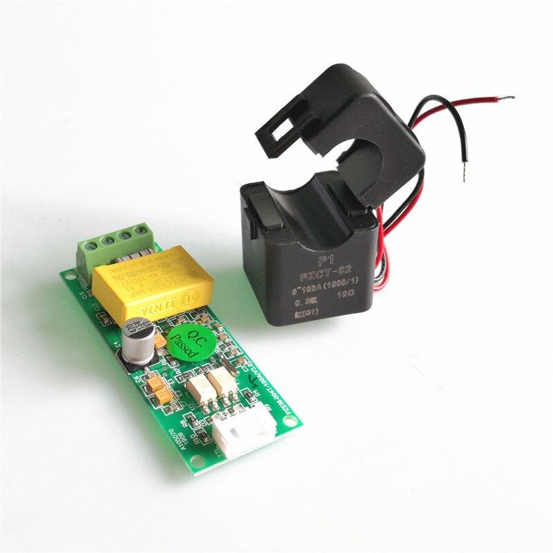 Pzem004t nova versão ac 80-260 v 100a ttl porta modbus-rtu voltímetro monitor de energia elétrica volt amp energia com divisão ct
