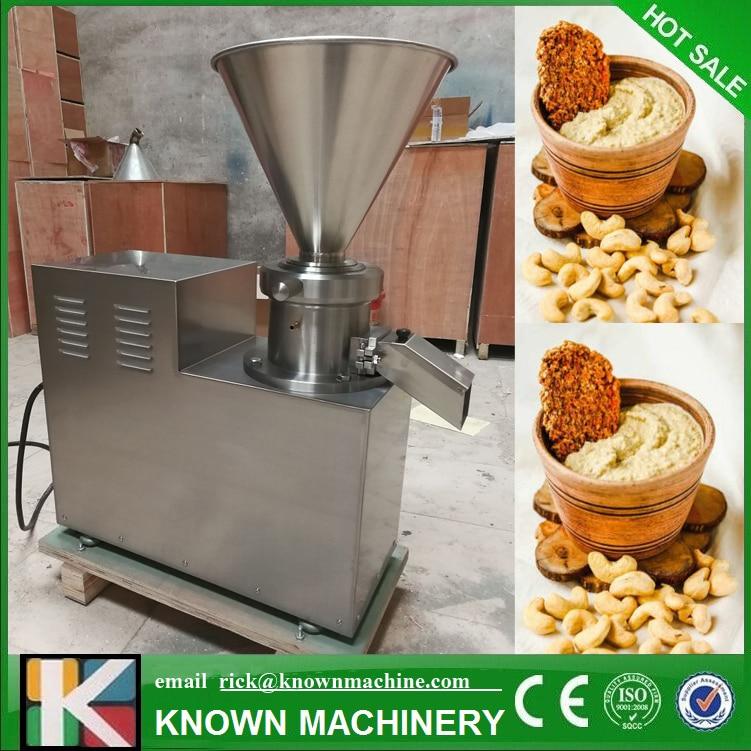Di tipo verticale superfine smerigliatrice colloide mulino per la macinazione di burro di arachidi, marmellata di vita, noce salsa per tre-fase di alimentazione