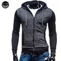 2017 Hoodies Men Sudaderas Hombre Hip Hop Mens Brand Upscale Slim Hedging Hoodie Sweatshirt Suit Slim Fit Men Hoody 2XL AB