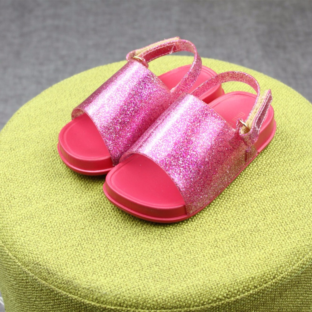 Melissa New Boys and Girls Sandals Jelly Shoes Non-slip Sandals Soft and Comfortable Sandals 3 Color Shoes Melissa