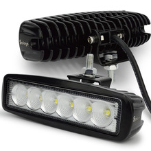 Safego 2 pcs 18 w led 작업 표시 줄 offorad 트럭 suv 보트 4x4 4wd atv ute 자동차 led 작업 빛 운전 안개 램프 스팟 홍수 빔