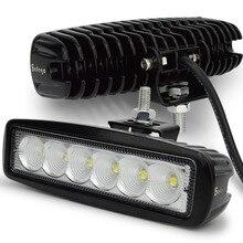 Safego 2 sztuk 18 W LED robocza listwa oświetleniowa offorad do ciężarówek SUV łódź 4X4 4WD ATV UTE samochodu lampa robocza LED jazdy lampy przeciwmgielne Spot wiązki powodzi