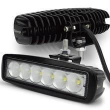 цена на 2 pcs LED work light bar 18W Truck SUV Boat 4X4 4WD ATV UTE 18w led work light Driving Lamp Spot Flood Beam car led work light
