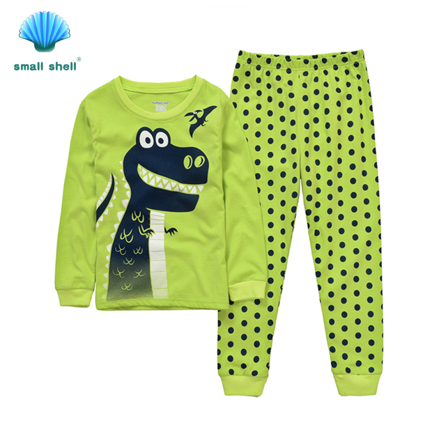 small shell 2016 autumn style children kids clothing sets baby girls clothes suits leisure wearLovely dinosaur printing F0072