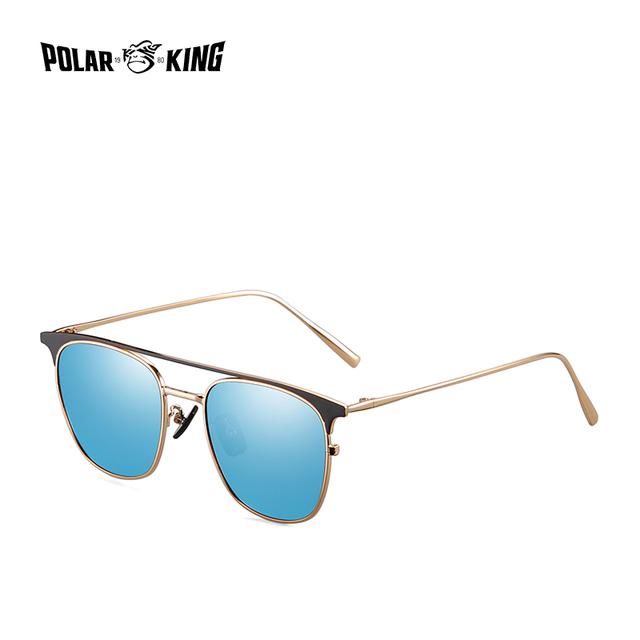 POLARKING 1170  Designer Metal Frame Mirror Polarized  Sunglasses