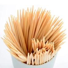Disposable Wood Sticks Barbecue Tools Natural BBQ Bamboo Skewers for Shish Kabob Grill Fruit(China)