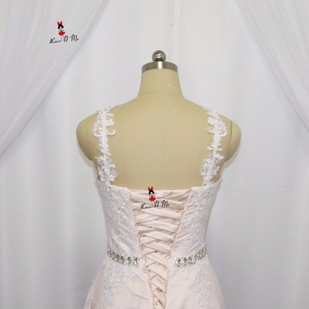 Vintage High Low Hochzeitskleid Spitze Champagne Knielangen Kurze ...
