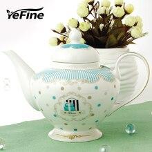 YeFine керамический кофейник большой емкости чайник Расширенный керамический чайник высокое качество костяной китайский заварочный чайник фарфоровые французские прессы