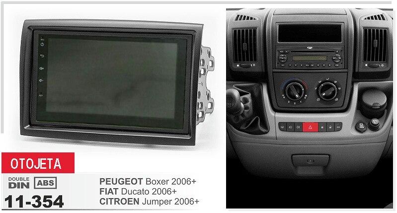 Рамка + Автомобильный dvd плеер Радио Стерео android 7,1 GPS navi головное устройство для peugeot boxer fiat ducato citroen jumper 2006 магнитофон
