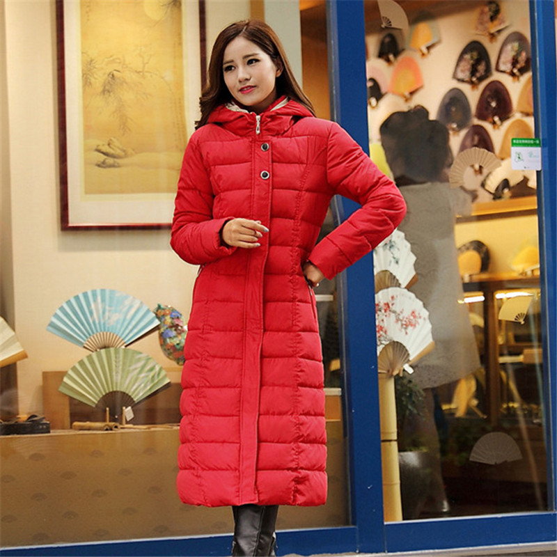 Warm Thick High Quality X-long Solid Cotton Padded Jacket 4XL parka,women Coat Winter Casual Outerwear Wadded Jacket TT1248 qweek women home animal slippers fur indoor rabbit slippers warm ladies cute funny adult slippers female slide house shoes