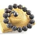 Высокое качество древние деревянные Louts резные браслеты высокая мода тибетский молитва мала стретч браслет для мужчин подарок