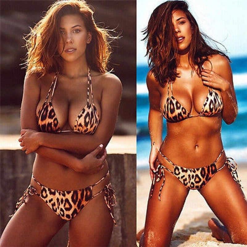 Glane Wanita Empuk Push-Up Bra Keren Bikini Set Pakaian Renang Musim Panas Laut Renang Pakaian Renang Cinta Suit