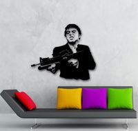 Wall Stickers Vinyl Decal Scarface Film Gangster Man Weapons 22x28inch