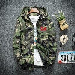 2018 New Winter Daiwa Men Waterproof Camo Fishing Clothing Hooded Fishing Jacket Quick-Drying Coat Fishing Shirt