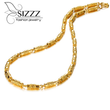 Men s Necklace Bamboo Chain Wedding Jewelry Bamboo Necklace Luxury Gold Filled Necklace Chain Wholesale