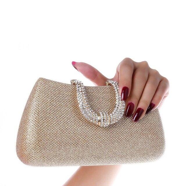 Bridal Handbags Women Bags 2017 Designer Female Clutch Bag Evening Diamond Wedding Party Pack Chain