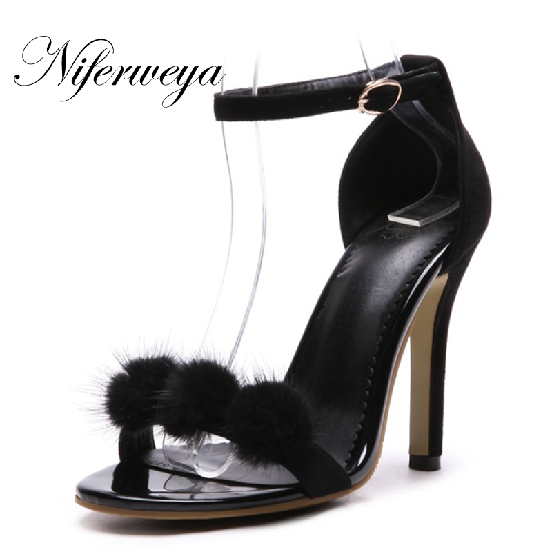 Sexy 11 cm Summer Ankle Strap women shoes big size 33-48 ladies pumps fashion Peep Toe Buckle Strap thin heel high heel sandals red patent leather strappy sandals cut out ankle strap buckle high heel shoes peep toe cage shoes women summer dress shoes