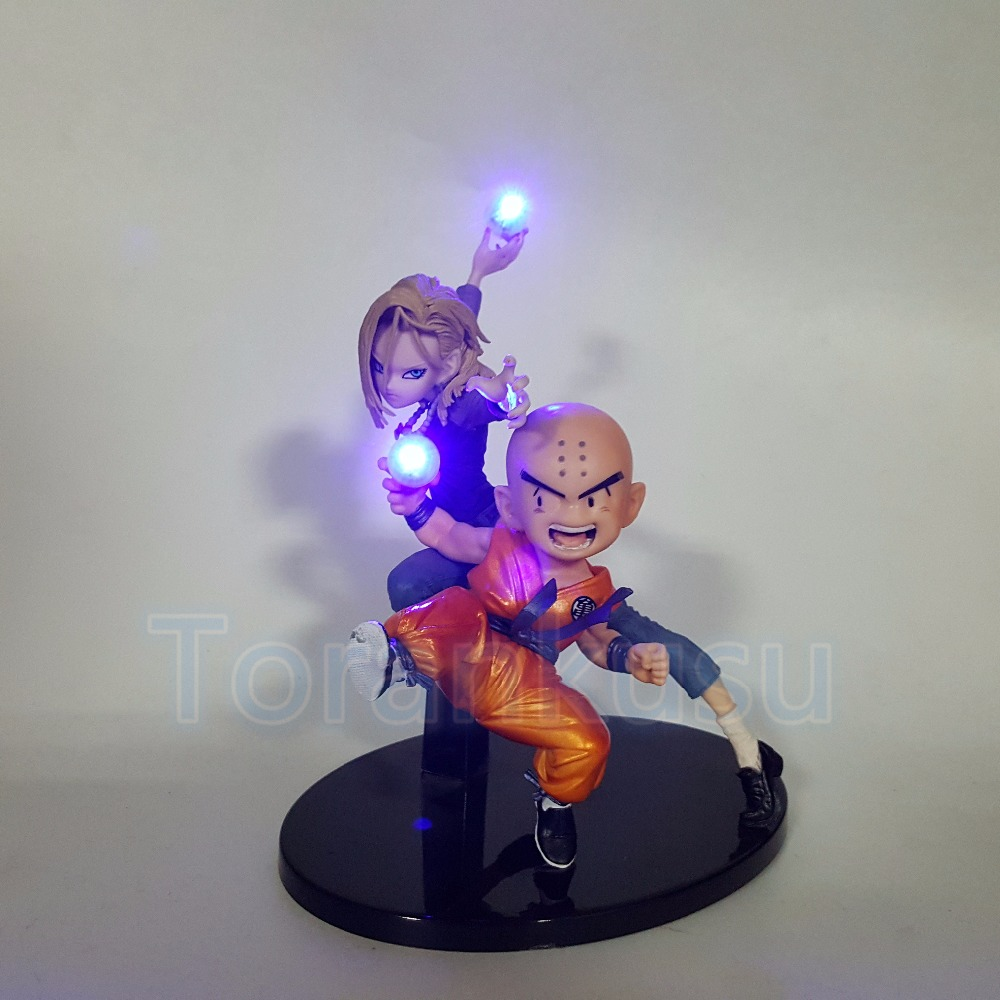 Dragon Ball Z Action Figure Krillin Android 18 Lazuli Led Lighting Display Toy Anime Dragon Ball SuperCollectible Doll DIY160