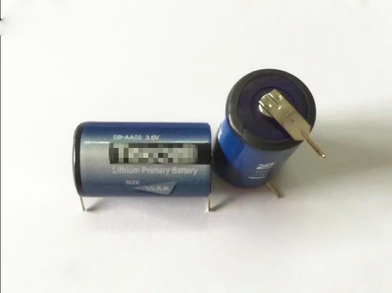 HOT NEW SB-AA02 3.6V 1200mah lithium <font><b>battery</b></font> SBAA02 AA02 <font><b>1/2AA</b></font> Li-ion <font><b>battery</b></font> welding feet leg image